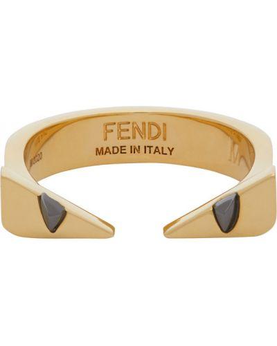 Кольцо золотое Fendi
