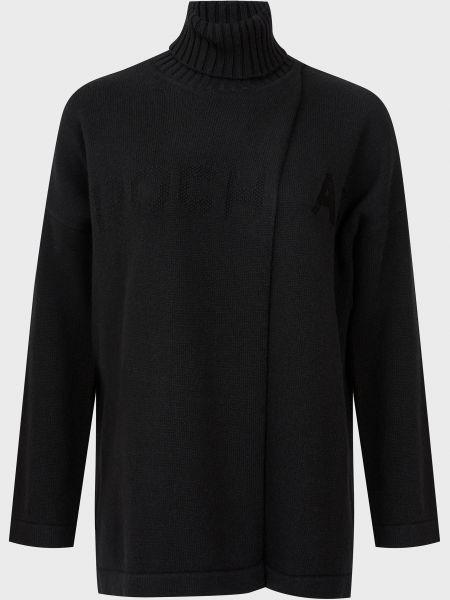 Черный шерстяной свитер Rochas