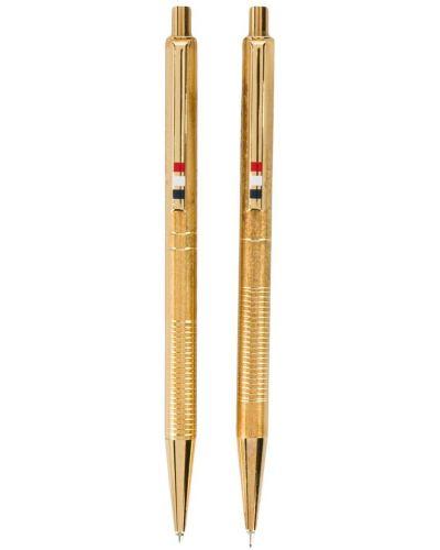 Кожаный карандаш для бровей золотой Thom Browne