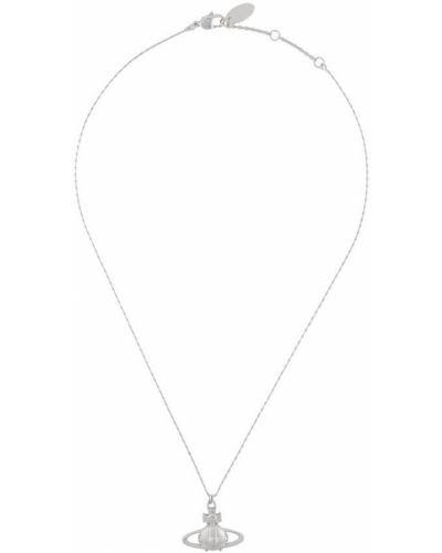 Тонкое серебряное ожерелье с подвесками Vivienne Westwood