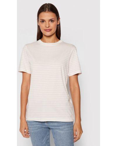 T-shirt - różowa Selected Femme