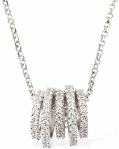 Naszyjnik łańcuch srebrny - biały Apm Monaco