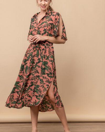Платье миди на пуговицах с короткими рукавами Mr520