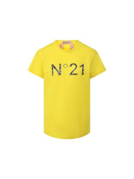 Хлопковая футбольная футболка No. 21