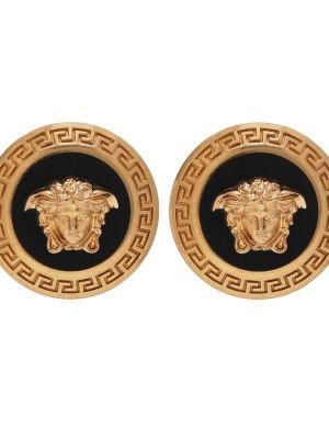 Kolczyki pierścionki kolczyki ze sztyftem żółty Versace