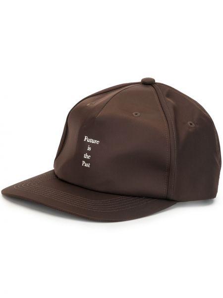 Brązowy kapelusz bawełniany z haftem Undercover