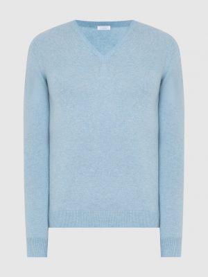 Кашемировый пуловер - голубой Malo
