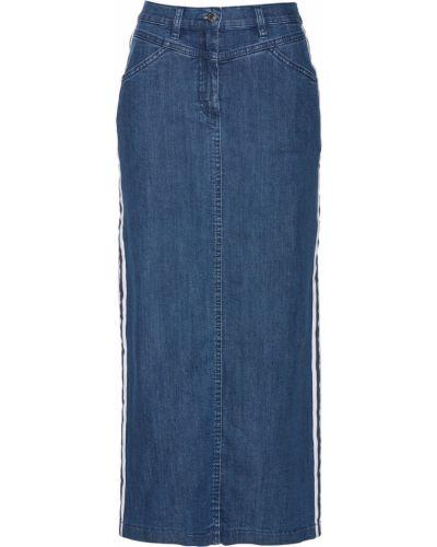 Синяя джинсовая юбка с карманами Bonprix