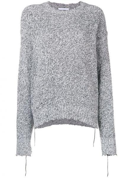 Sweter z kaszmiru czarny i biały Helmut Lang
