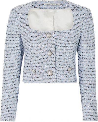 Ватная синяя куртка с пайетками Alessandra Rich