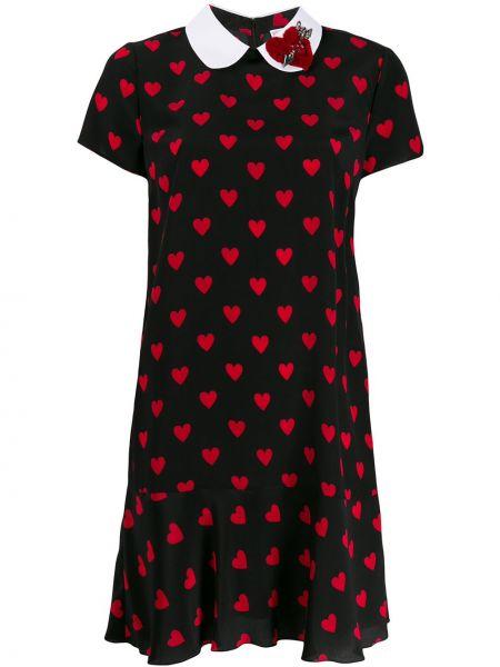 Платье мини с баской на молнии Redvalentino