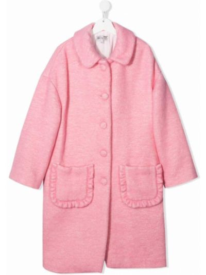 Różowy płaszcz bawełniany Simonetta