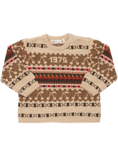 Шерстяной свитер - бежевый Bonpoint