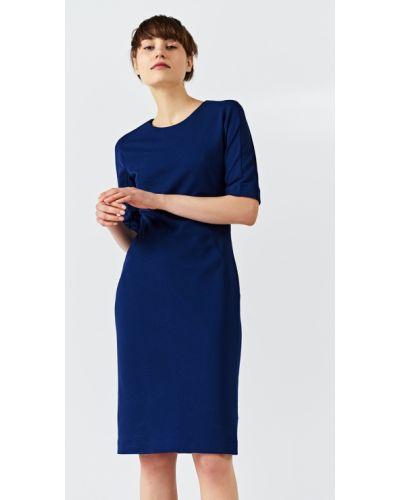 Платье миди из вискозы однотонное Simple