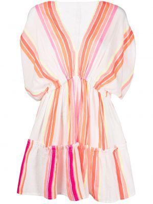 Pomarańczowa sukienka krótki rękaw Lemlem