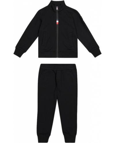 Czarny dres bawełniany Moncler Enfant