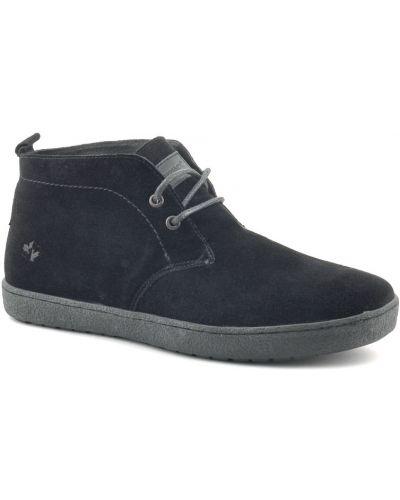 Кожаные ботинки осенние черные Lumberjack