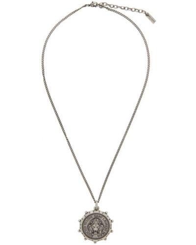 Серебряный медальон Saint Laurent