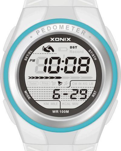 Biały zegarek sportowy Xonix