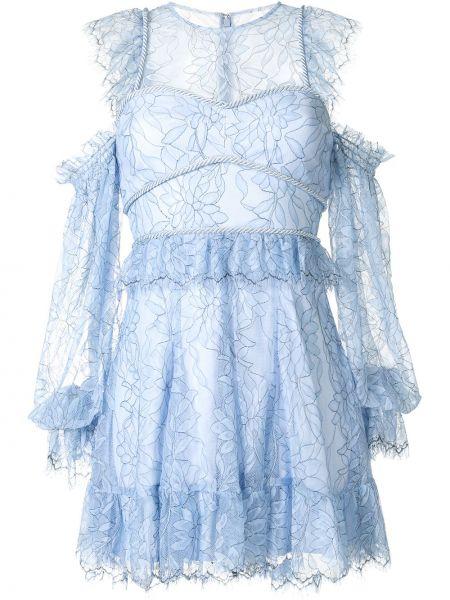 Нейлоновое платье мини со вставками прозрачное на молнии Alice Mccall