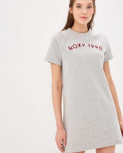 Серое платье Roxy