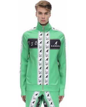 Zielona długa kurtka z raglanowymi rękawami Mjb Marc Jacques Burton