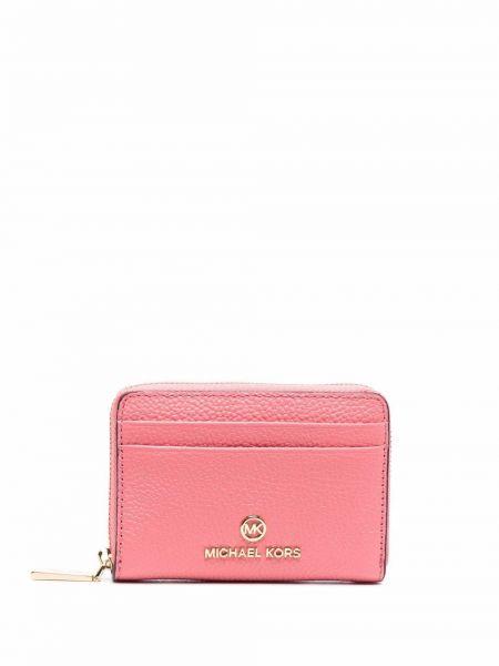 Розовый кожаный кошелек Michael Michael Kors