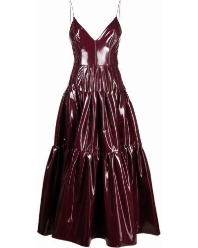 Красное платье без рукавов Alex Perry