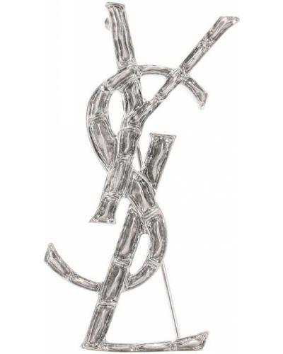 Broszka srebrna Saint Laurent