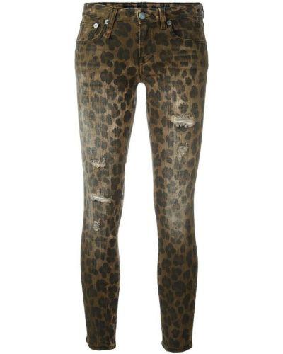Brązowe jeansy skinny R13