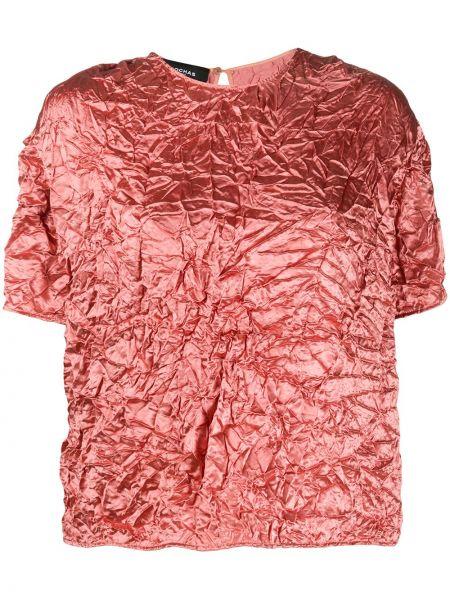 Розовая блузка свободного кроя Rochas