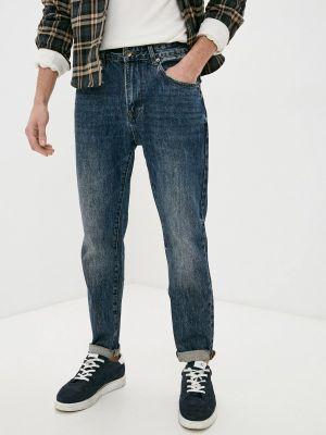Синие прямые джинсы Qwentiny