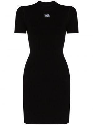 Sukienka mini z printem - czarna Alexander Wang