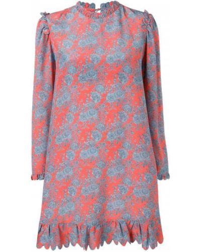 Платье с цветочным принтом с вырезом Horror Vacui