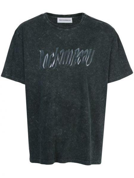 T-shirt bawełniany krótki rękaw z printem Rochambeau