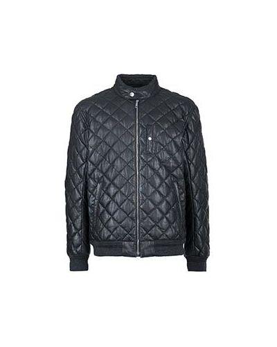 Черная кожаная куртка Strellson