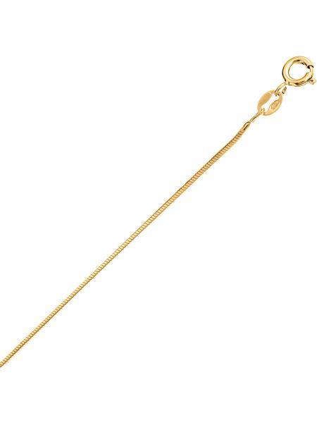 Золотистая желтая цепочка из серебра позолоченная с декоративной отделкой Madde