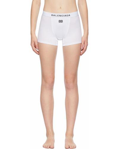 Białe szorty z haftem Balenciaga