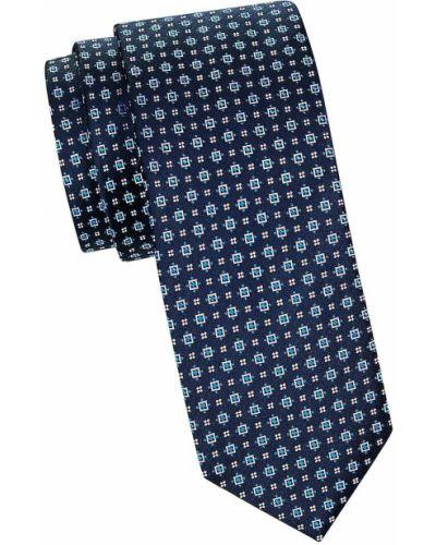 Krawat z jedwabiu z haftem Hugo Hugo Boss