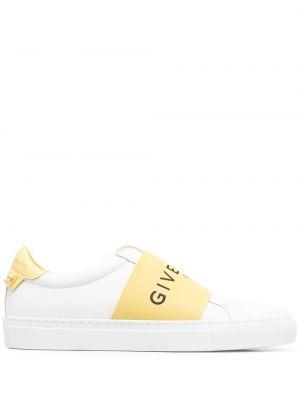 Miejski żółty top z prawdziwej skóry Givenchy