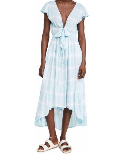 Текстильное платье макси с декольте стрейч Tiare Hawaii