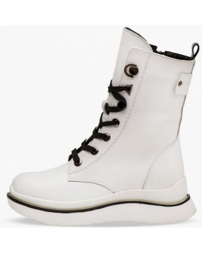 Кожаные ботинки - белые Bosser