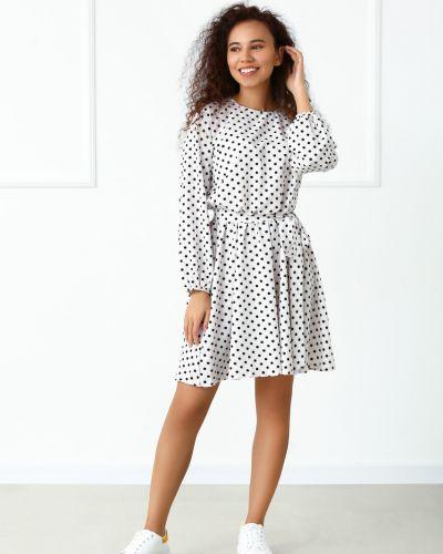 Платье макси с длинными рукавами - белое Fashion Girl