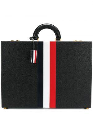 Кожаный черный портфель Thom Browne