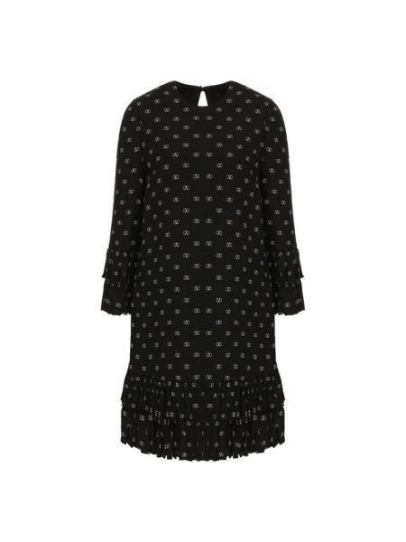 Платье каскадное шелковое Valentino