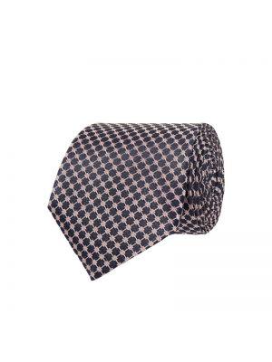 Różowy krawat z jedwabiu Boss