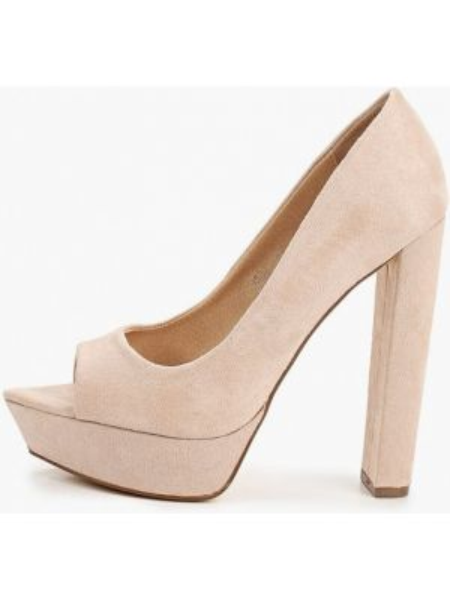 Туфли с открытым носком бежевый Ideal Shoes®
