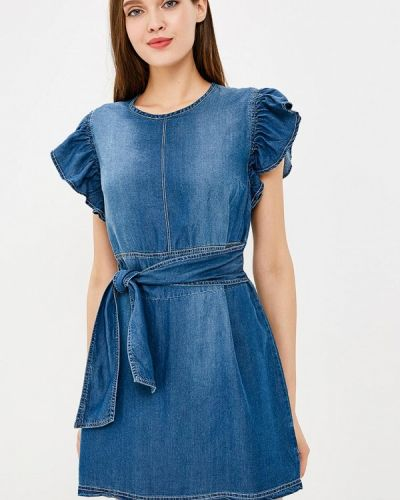 Джинсовое платье осеннее синее Piazza Italia