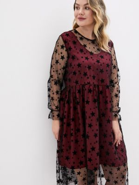 Вечернее платье бордовый красный Lawwa