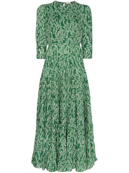 Suknia ślubna zielona z obrazem Rixo